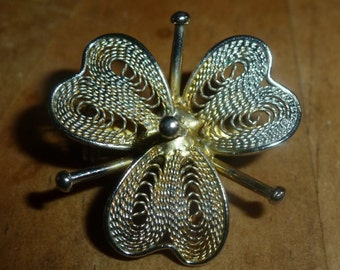 A Vintage Three leaf clover shaped Brooch xx