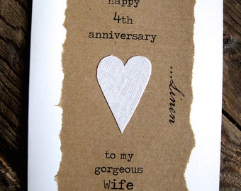 Fourth wedding anniversary cards