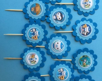 Disney Octonauts birthday party Octonauts party Octonauts cupcake topper Octonauts decoration Octonauts party favor Octonauts decoration
