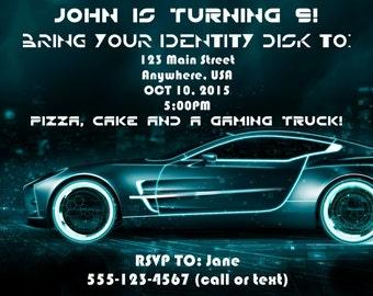 Tron Legacy invitation, Tron Birthday