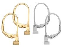 2 Pair Set Earring Converters  Earring Convertiblez Converts post earrings to lever back dangle