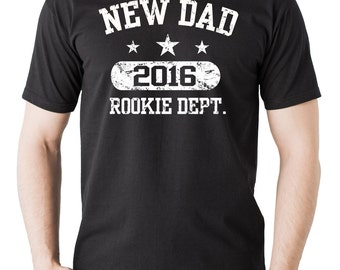 Gift For New Father T-Shirt New Dad 2016 Tee Shirt Baby Announcement Birth Announcement Shirt