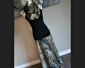 Realtree AP Camo Women's Long Maxi Skirt *Optional* Matching Infinity Scarf & Headband PLUS SIZE Maternity Camouflage