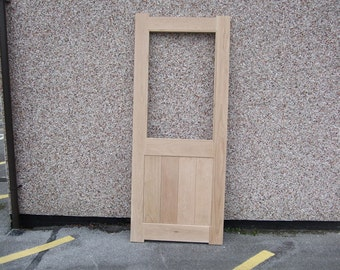 Solid Oak Door Half Glazed