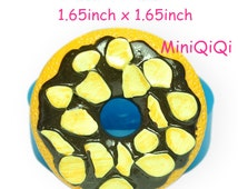 GYL351M Free Shipping Chocolate Almond Donut Doughnut Silicone Mold Craft Food Safe Gum Paste Icing Jewelry Sugar Wax Mold