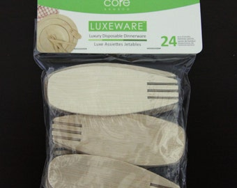 Disposable Bamboo Sporks - 24 Quantity
