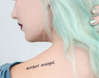 Mischief Managed Temporary Tattoo