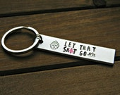 Let That Sh*t Go Keychain Moving On Gift Inspiration Motivation Stamped Personalized Buddha Lotus Meditation Yoga Design Buddhist Mature