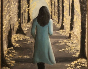 Her Solo Journey, original oil