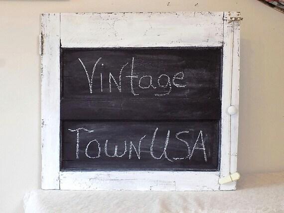 Antigue Door Chalkboard : Items similar to large antique door turned chalkboard