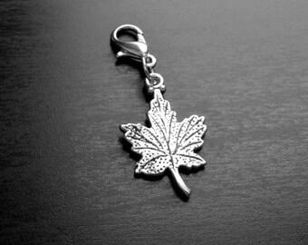 Leaf Dangle Charm for Floating Lockets, Necklace, Or Bracelets-Gift Idea