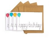 Happy Birthday card set of 4 or 8 cards bday, age cards, gift, love card greetings card sets gifts set of cards gift set multipack
