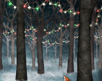 Christmas Magic Fox Card