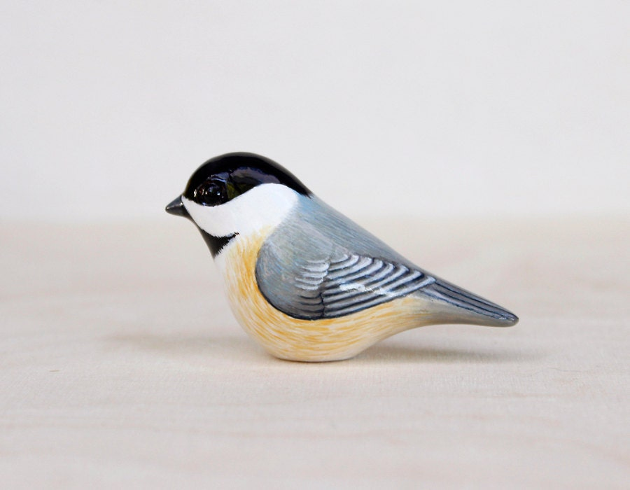 Chickadee bird figurine - Chickadee figurine ...