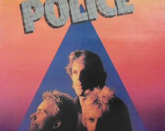 Original 1980 The Police Promotional Poster for the Album Zenyatta Mondatta