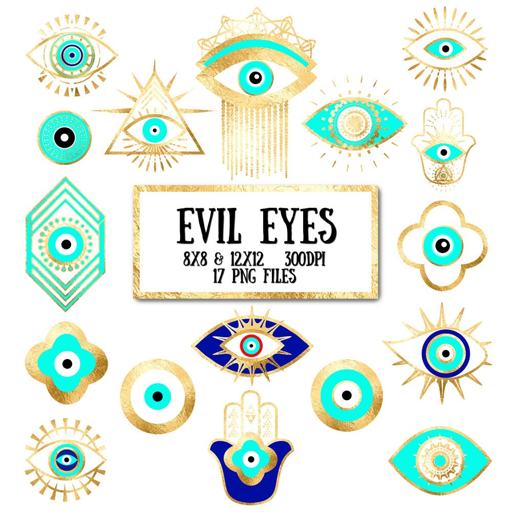 Evil Eye Clip Art gold foil evil eye third eye hamsa