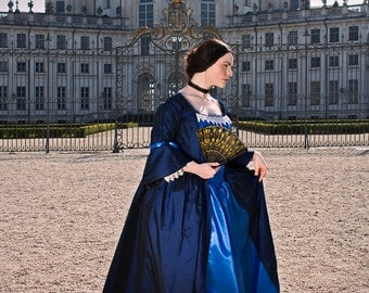 """10% off! 18th century dress """"Marquise"""", sizes 6-16, for orders only Historical Costume Rococo Marie Antoinette Outlander Claire Fraser"""