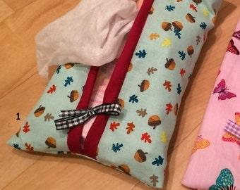 Pretty Wet Wipe Case / Cover - Acorn design