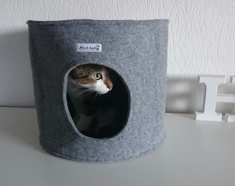 Round Felt Cat bed, Cat house, Cat cave