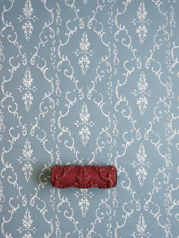 Damask patterned paint roller from paint courage for Paint roller designs home depot