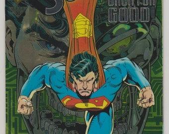 Superman; Vol 2, 82 Modern Age Comic Book (Chromium Cover Edition).  NM+ (9.6).  October 1993.  DC Comics