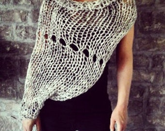 Twice the Shrug - Knitted shrug, airy knitted shrug, bulky knit, sweater, knitted shrug, knitted sweater