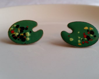 Vintage Green Paint Palette Cufflinks