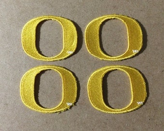 4 Oregon Ducks embroidered Iron on Patches  University of Oregon