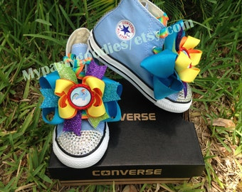 Rainbow Dash Shoes, my little pony shoes, converse bling shoes, girls shoes.