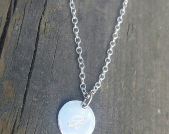 Engraved Love-Tag WITHOUT chain. Sterling silver.