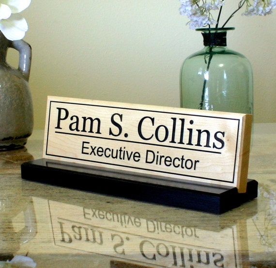 Personalized Office Desk Custom Sign By Columbiariversigns