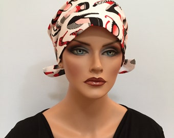 Sandra Scarf, A Women's Surgical Scrub Cap, Cancer Headwear, Chemo Head Scarf, Alopecia Hat, Head Wrap, Head Cover, Hair Loss Shoes N Shades