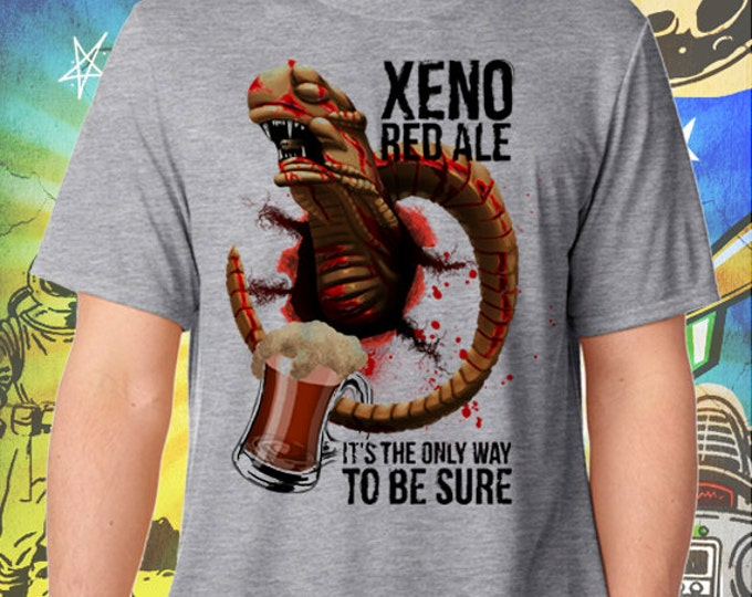 Alien Movie / Xeno Red Ale / Men's Gray Performance T-Shirt