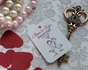 Bride Groom Tags, Personalized Wedding Tag, Mr and Mrs Tag, Favor Tag. Engagement tags. Set of 25 to 300 pieces, Custom Language available.