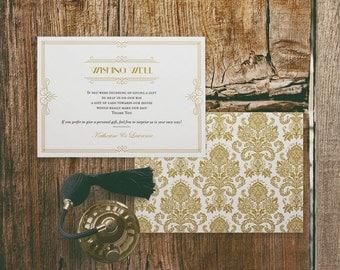 Printable Wedding Gift Registry Cards : Printable Wedding Gift Registry Card Template in Classic Gray