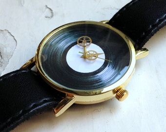 Skeleton Watch, womens watch, Mens watch, Vintage Watch Gears, Moon Sun watch, Russian watch, minimalist watch, Gold watch , soviet watch