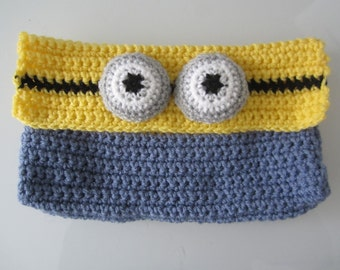 Crochet minion purse | Etsy