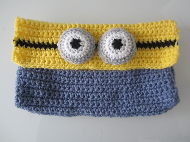 Minion pencil case crocheted pencil case minion minion