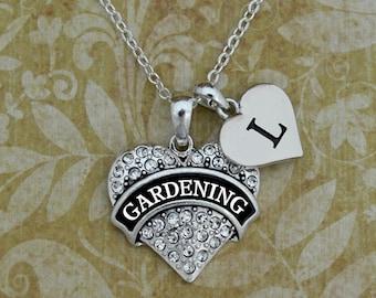 Custom Initial Gardening Necklace - 54680IN