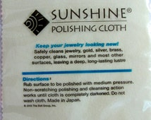 Sunshine Polishing Cloths, Metal Polishing, Copper, Brass, Silver, Gold, Pewter, Cleaning Cloths