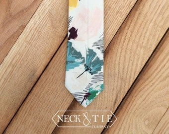 Floral Tie| Men's Ties | Handcrafted | Wedding Ties|