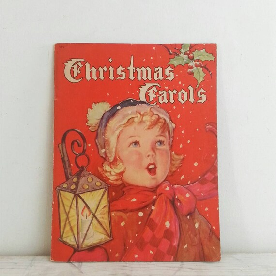 Christmas Carol Singers Decorations: Vintage Christmas Carol Song Book 1942 Holiday By