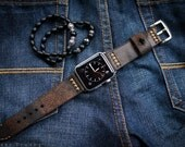 Handmade Leather Band SwissAmmo Style distressed leather incl. Lugs Adapter for Apple Watch 42mm or 38mm