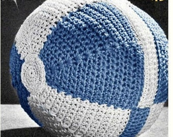 Crochet TOY Ball Pattern Vintage 70s Crochet Baby Ball Crochet Amigurumi Ball Crochet Stuffed Toy Pattern