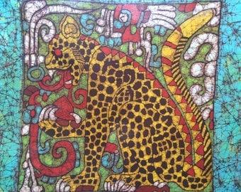 Batik of the Jaguar from Chichén Itzá, Mexico