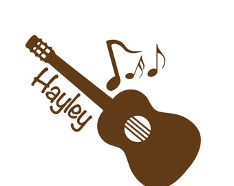 Personalized Acoustic Guitar Vinyl Graphic FREE SHIPPING