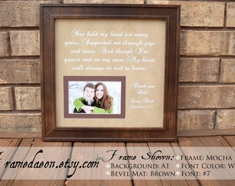 Personalized Picture Frame Wedding Gift Parents Kids By Framedaeon