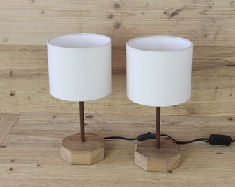 """Set of 2 """" Nordic style"""" table lamps"""