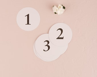 Traditional Wedding Table Number Cards - Round Table Number Cards - Wedding Signage - Wedding Sign - Table Numbers - Round - Classic