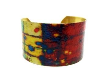 Handmade Jewelry - Gift for Wife - Art Bracelet - Birthday Jewelry - Cuff Bracelet - Simple Bracelet - Gold Bangle - Boho Bracelet